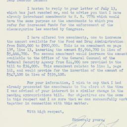 Letter : 1950 July 13