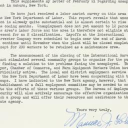 Letter : 1950 April 27