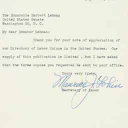 Letter : 1950 August 29