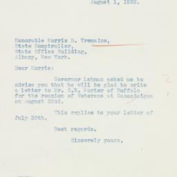 Letter : 1935 August 1