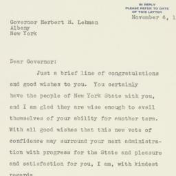 Letter : 1936 November 6