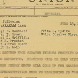 Telegram : 1950 June 13