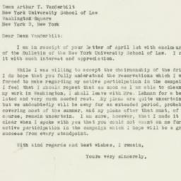 Letter : 1946 April 8