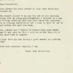 Letter : 1946 July 20