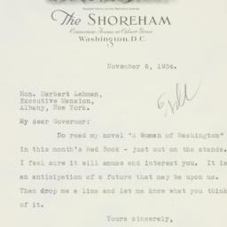 Letter : 1934 November 6