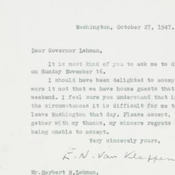 Letter : 1947 October 27