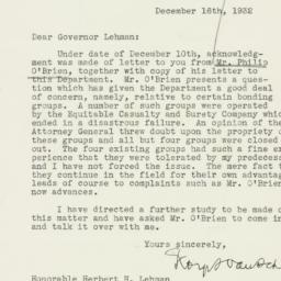 Letter : 1932 December 16