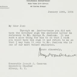 Letter : 1934 January 24
