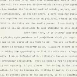 Letter : 1940 October 2