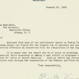 Letter : 1933 January 21