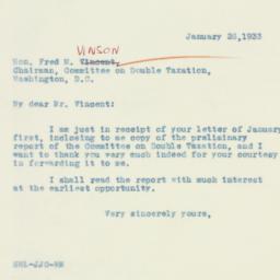 Letter : 1933 January 26