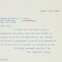Letter : 1936 August 31