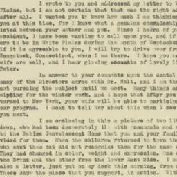 Letter : 1919 September 3