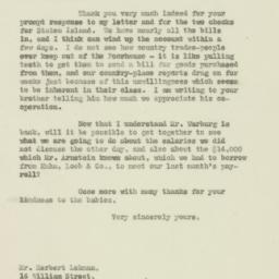 Letter : 1919 November 7