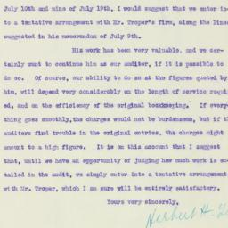 Letter : 1920 July 21