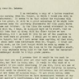 Letter : 1920 October 25