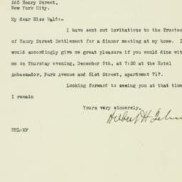 Letter: 1926 December 1