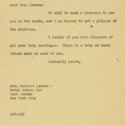 Letter : 1926 December 2