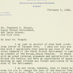Letter : 1929 February 5