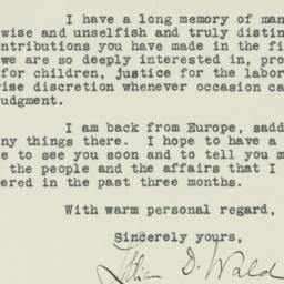 Letter : 1930 October 8