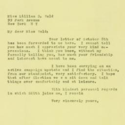 Letter : 1930 October 19