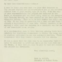 Letter : 1931 January 21