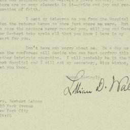 Letter : 1932 November 9