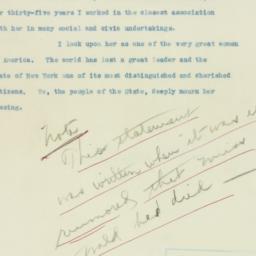 Press Release: 1933 March 9