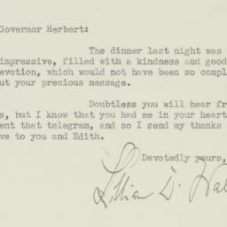 Letter : 1934 November 14