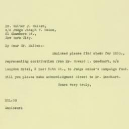 Letter : 1925 October 14