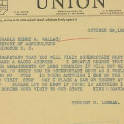 Telegram : 1935 October 29