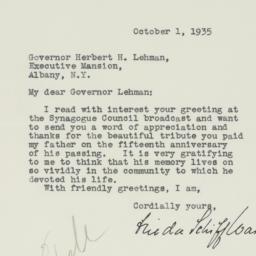 Letter : 1935 October 1