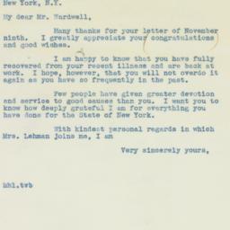 Letter : 1938 November 14