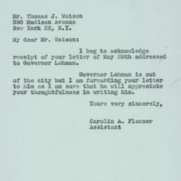 Letter : 1947 May 31