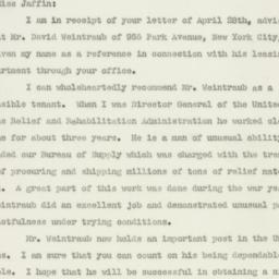 Letter : 1947 April 30