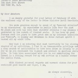 Letter : 1958 February 26