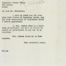 Letter : 1946 September 19