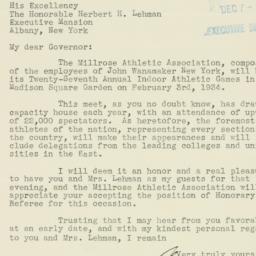 Letter: 1933 December 6