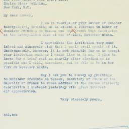 Letter: 1936 October 29