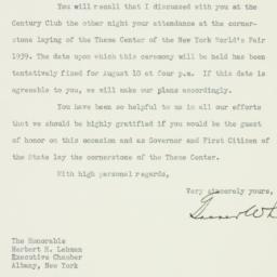 Letter : 1937 July 8