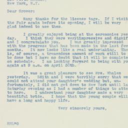 Letter : 1938 July 1