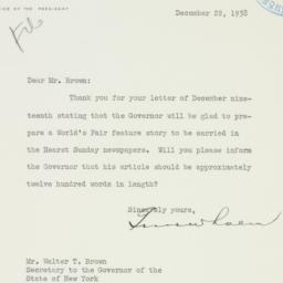 Letter : 1938 December 22