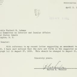 Letter : 1951 April 2