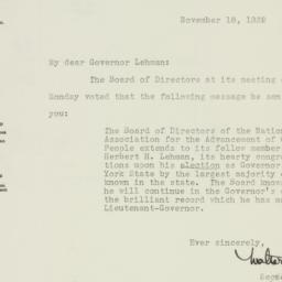 Letter : 1932 November 18