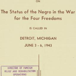Ephemera : 1943 May 6