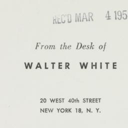 Ephemera: 1954 March 4