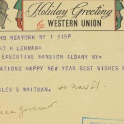 Telegram : 1935 January 1