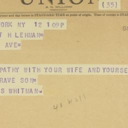 Telegram : 1944 April 12