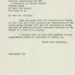 Letter : 1950 July 14