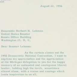 Letter : 1956 August 22